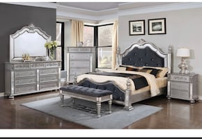 Brand new bedroom set available in Queen size and King size