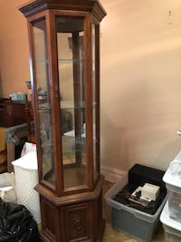 brown wooden framed glass display cabinet Hopewell Junction, 12533