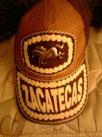 brown and white Zacatecas fitted cap