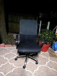 black leather office rolling armchair Daphne, 36526