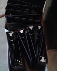 Legal Binders - Legal sized binders; 13 x 3 ring, 11 x 4 ring; in good condition; pickup @ Yonge & St. Clair during business hours