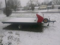 red and white utility trailer Waterford Township, 48327