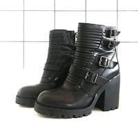 Excellent black leather boots Orlando, 32806