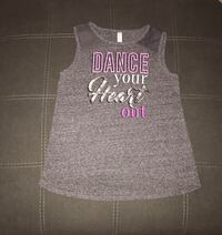 Tank top gray XL workout active DANCE YOUR HEART OUT! mesh shoulders  Gilbert, 85233
