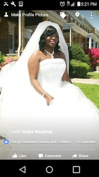 women's ivory strapless bridal gown Rosedale