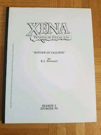 Xena: Warrior Princess - Season 2 Episode 5 Script Calgary, T3J 3J7