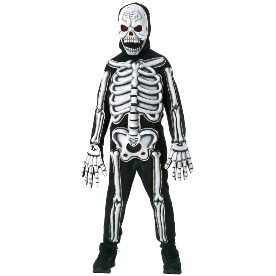 Halloween Costume Kids Large 3D Glow in the dark Skeleton