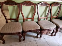 4 Dinning chairs solid wood  Wilmington