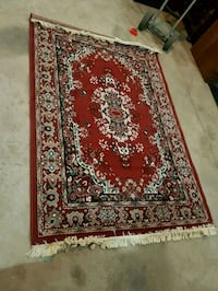red and white floral area rug Brampton, L6X