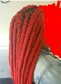 red box braids Laurinburg