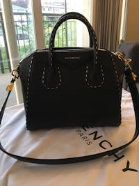 EEUC Authentic Givenchy Antigona Bag - Small, Black Calf Skin with Gold Chain Detail Burnaby, V5C 3T8