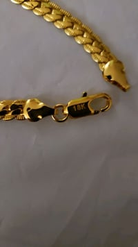 "18K GOLD PLATED STAMPED BRACELET 4MM 7"" NEW London, N6P 1P6"