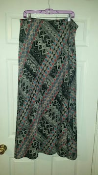 black, gray, and red tribal maxi skirt Fort Worth, 76118