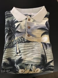 Tommy Bahama Palm Trees Collar Shirt w Pocket Pittsburgh