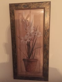 brown wooden framed painting of flowers Longueuil, J4J 5C6