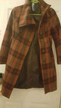 brown and black plaid button-up jacket Port Perry, L9L 1B9