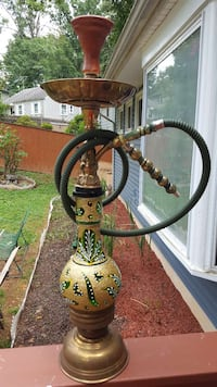 brass and black floral hookah Fairfax, 22030