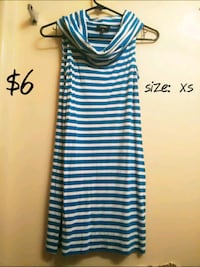 white and black stripe sleeveless dress El Paso, 79924