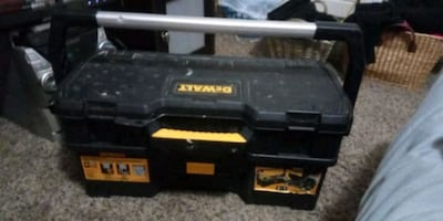 DeWalt 2 compartment tool box with tools 20 if you can come tonight!