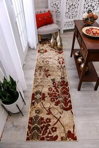 Modern Red Hallway Runner Rug 2X8 Carpet