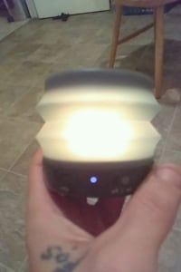 iHome Bluetooth speaker black and lights up differ