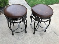 two black metal framed padded stools Cypress, 77429