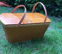 brown picnic basket Dorval, H9S 2T6