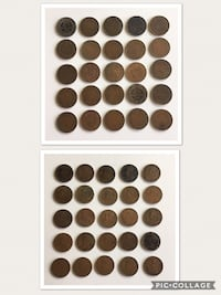 Lot of 25pcs 1911 to 1920 Antique King George V Canadian Pennies Calgary, T2R 0S8