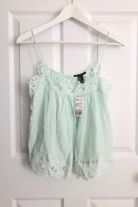 Forever 21 mint green crochet detail tank size small- NEW WITH TAGS Mississauga, L5M 0C5