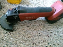Hilti cordless grinder with battery..