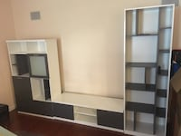white and black wooden TV hutch Troy, 48085