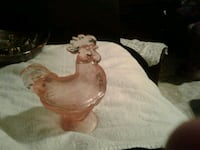 Depression Glass Rooster Candy Dish Morganton, 28655