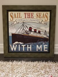 Framed nautical picture Vaughan, L4L 8R9
