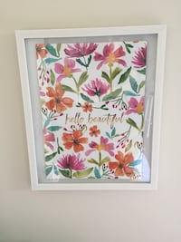 white, pink, and green floral painting Apex, 27523