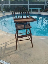 brown wooden highchair antique  Palm Bay, 32907