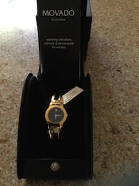 Movado Ladies Watch Gold Plated Stainless Steel Br Germantown, 20874