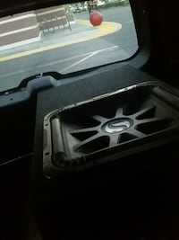 black and gray Kicker subwoofer Reno
