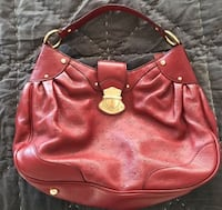 Red Leather Hobo Purse Handbag Chicago, 60611