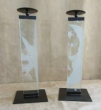 2 clear glass candlestick holders Connellsville township, 15425