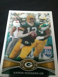 Aaron Rodgers Packers NFL trading card Beaver Dam, 53916