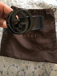 black Gucci leather belt with box Hackensack, 07601