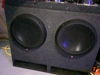 """Subwoofer pair great condition 12"""" Rockford fosgate T1 subs high end car audio Edmonton, T6W 2W8"""