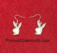 Sterling silver play boy bunny pens g with sterling silver earrings