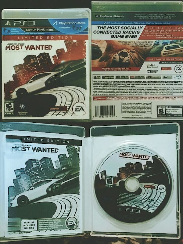 Used Ps3 Game Need For Speed Most Wanted For Sale In Canton Letgo