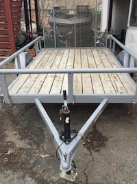 6 by 10 barrel steel dovetail trailer with removable sides 543 mi