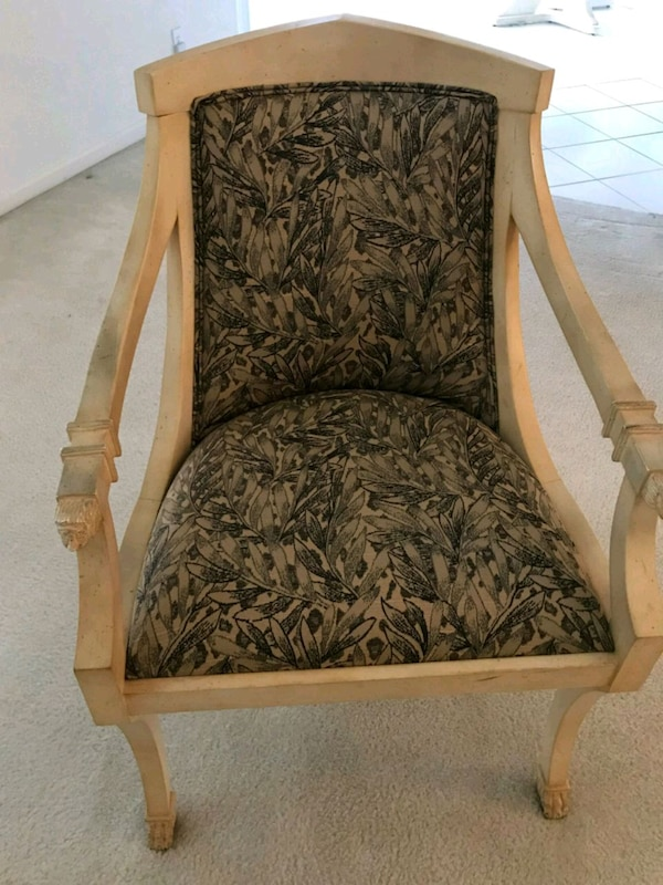 TWO (2) ETHAN ALLEN CARVED WOOD CHAIRS