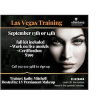 Ellebana lash lift training Las Vegas