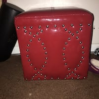 red leather silver studded ottoman New Carlisle, 45344