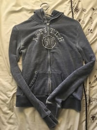 black and gray A & Fitch zip-up hoodie Lakeshore, N0R