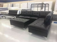 Black Leather Sectional w/ ottoman Midvale, 84047